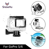 SnowHu 45M Waterpro For Go Pro 5 Accessories For Gopro 5 Waterproof Housing Case Mount For