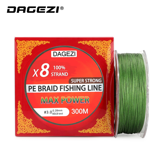 Best Price DAGEZI 8 Strands Braided Fishing Line 300M Nano-coating Multifilament PE Line 10-80LB Fishing Lines For Carp Fishing Tackle