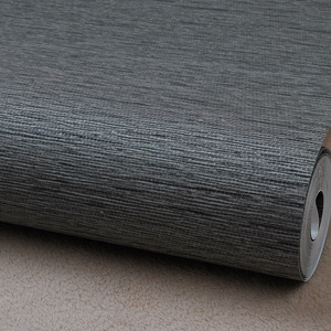 Image 5 - Grasscloth Effect Plain Textured Room Wallpaper Roll Modern Simple Wall Paper For Bedroom Living Room Home Decor,Dark Grey