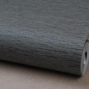 Image 5 - Grasscloth etkisi düz dokulu odası duvar kağıdı rulo Modern basit duvar kağıdı yatak odası oturma odası için ev dekor, koyu gri