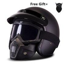 Motorcycle Motorbike Rider retro open face helmet Casco Casque Moto Harley Retro vintage Helmets dot S M L XL matte black