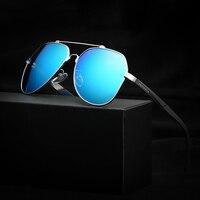 Yurt Óculos de Sol Dos Homens Marca de qualidade Ultrafinos Lense Moldura de Aço Inoxidável de Alta Definição da Visão de Revestimento de Filme Polarizador Óculos