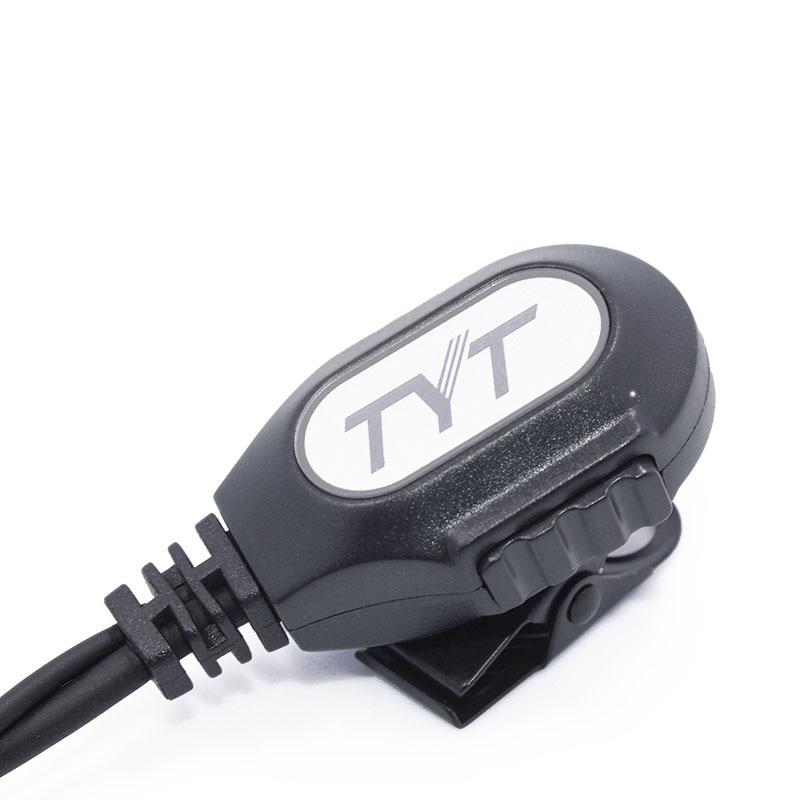 Grand PTT bouton talkie walkie filaire écouteurs Casque Pour Deux-way radio TYT TH-UV8000D MD-380 Baofeng UV-5R BF-888S
