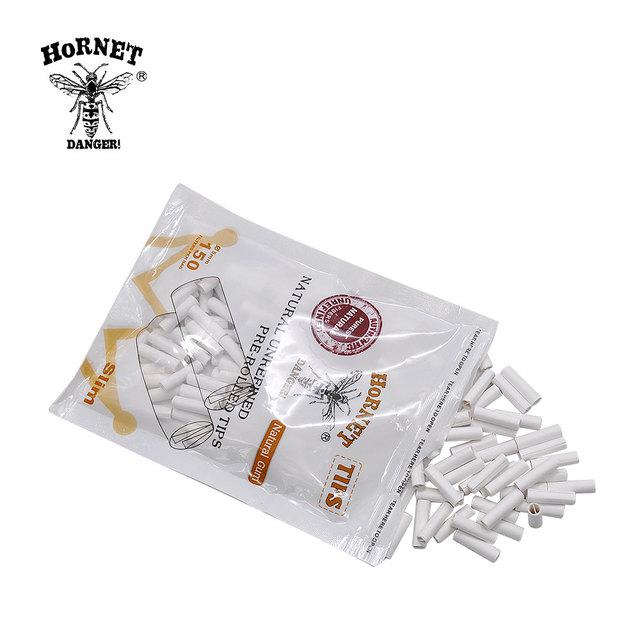 HORNET DANGER 150 x HORNET Natural Gum 5MM Slim Rolling FilterPre Rolled Natural Unrefined Cigarette Filter Rolling Paper Tips