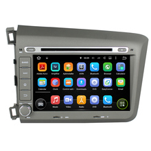 8Inch Quad Core HD1024*600 Android 5.1 Car DVD Player For Honda For Civic 2012 Car Stereo Multimedia Player Free 8GB MAP Card