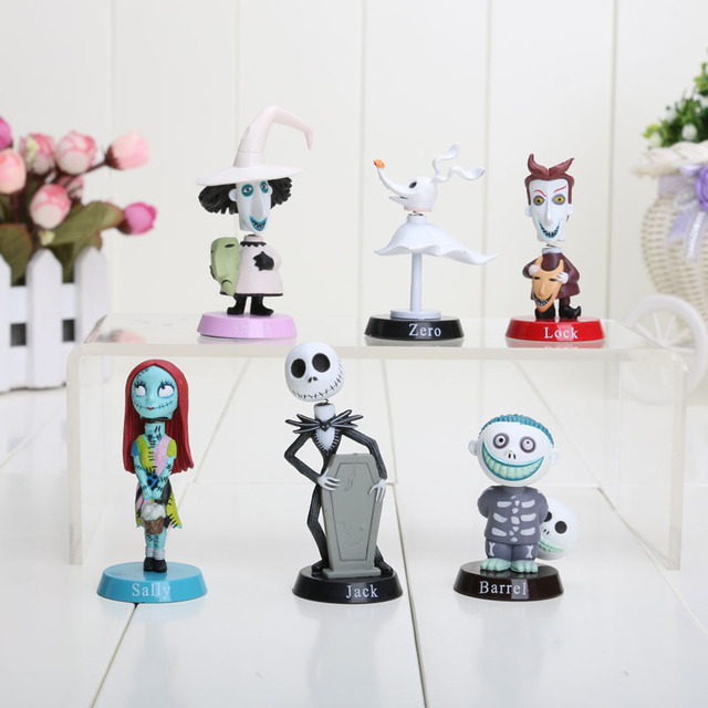anime 6pcsset nightmare before christmas jack pvc doll action figures toy - Nightmare Before Christmas Action Figures