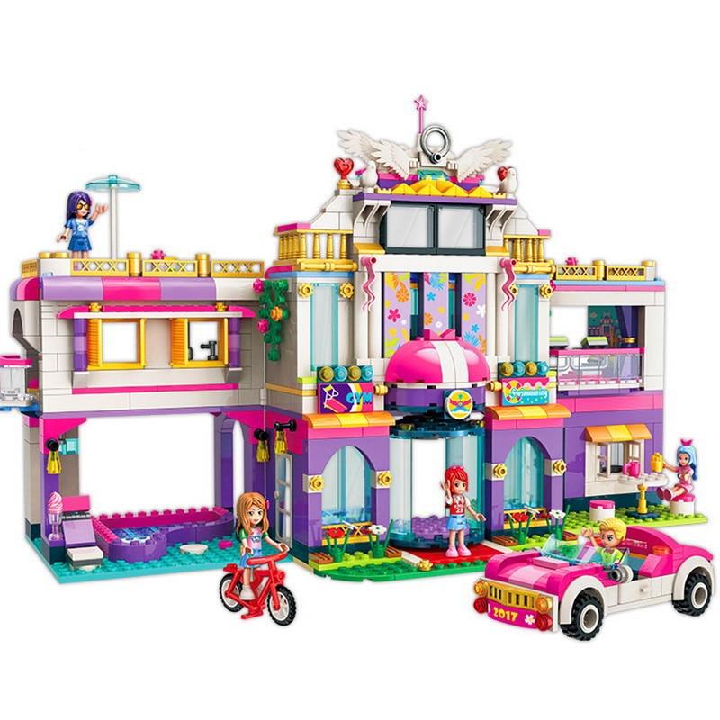 2017 944P Fire House Villa Constructor Model Kit Blocks Compatible sluban Bricks Toys for Boys Girls