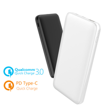 Power Bank 10000mAh USB Quick Charge 3.0 Type-C PD Dual Output External Backup Battery For Xiaomi 7/iPhone X/Laptop 12inch