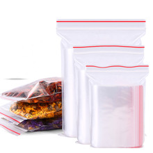 100 pcs Packing bag Reclosable Seal Top Clear zipper bags clothing book nut Ziplock Bag Multi-sizes plastic 4Mil