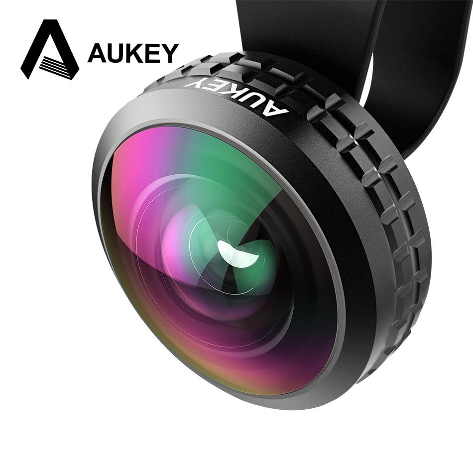AUKEY Optique Pro Lentille Super Grand Angle 238 Degrés Haute clarté telefon kamera lensi Camera Lens Kit pour iPhone Android Smartphone