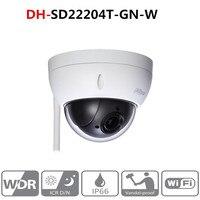 Оригинальный DH Wi Fi камера DH SD22204T GN W wifi IP 2MP HD Сеть мини PTZ купольная 4x оптический зум POE беспроводная камера SD22204T GN W