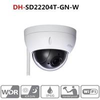 Original DH wifi camera DH SD22204T GN W WiFI IP 2MP HD Network Mini PTZ Dome 4x optical zoom POE wireless Camera SD22204T GN W