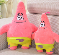 Super Cute 1pc 35cm Cartoon Patrick Star Spongebob Boy Plush Doll Pillow Cushion Stuffed Toy Children