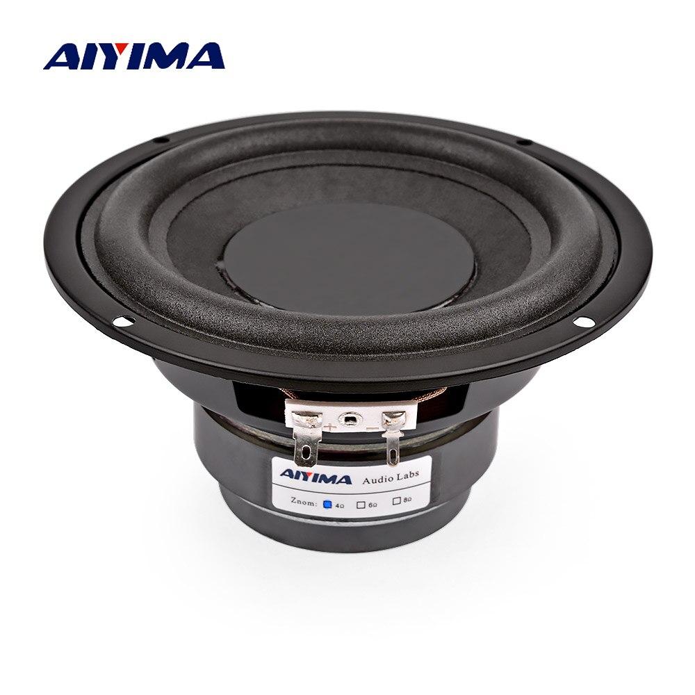 AIYIMA 5,25 дюймов сабвуфер динамик, 4 Ом, 8 Ом, 100 Вт, Hi Fi, бас динамик для 5,1 сабвуфера DIY