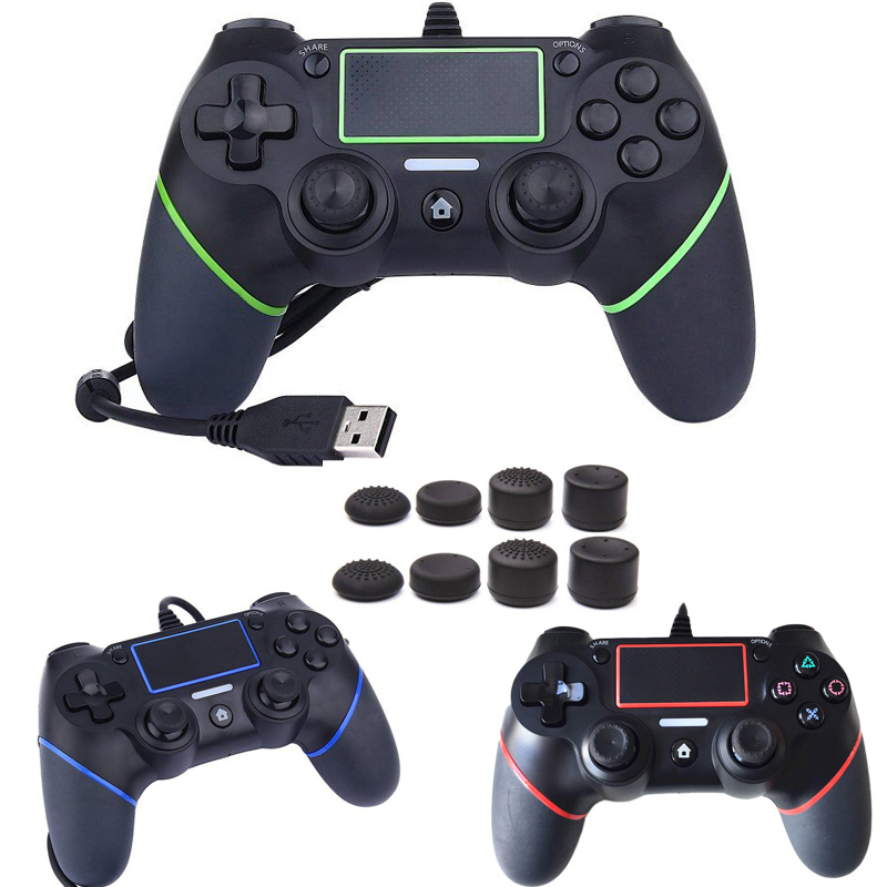 PS4 USB Wired Controller for Sony PS4 Playstation 4 Dualshock 4 Joystick Gamepads Gaming with 1.8M Cable Updated Version Grips цена