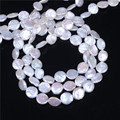 Coin Cultured Freshwater Pearl Beads,Inspirational, natural, white, 10-11mm, Hole: Approx 0.8mm, Sold Per 16 Inch Strand