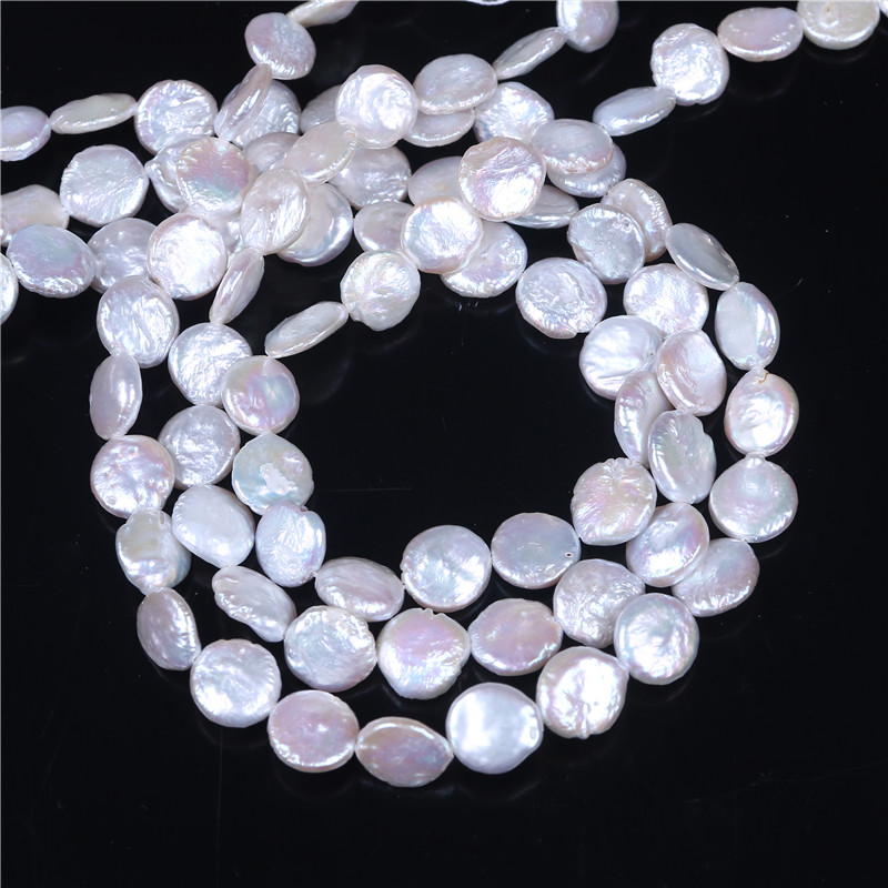 Coin Pearl Cultured Freshwater Pearl Beads,Inspirational, natural, white, 10-11mm, Hole: Approx 0.8mm, Sold Per 16 Inch Strand ...