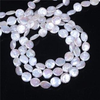 Münze Perle Züchteten Frischwasserperlen Perlen, Inspirational, natürliche, weiß, 10-11mm, loch: Ca. 0,8mm, verkauft Pro 16 Zoll Strang