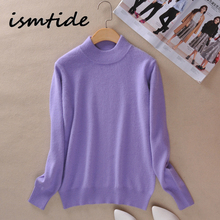 купить Sweater Women Turtleneck Knitted Sweater Women Autumn Winter High Quality Cashmere Pullover Kint Long Sleeve Slim Female Knitwea по цене 1354.08 рублей
