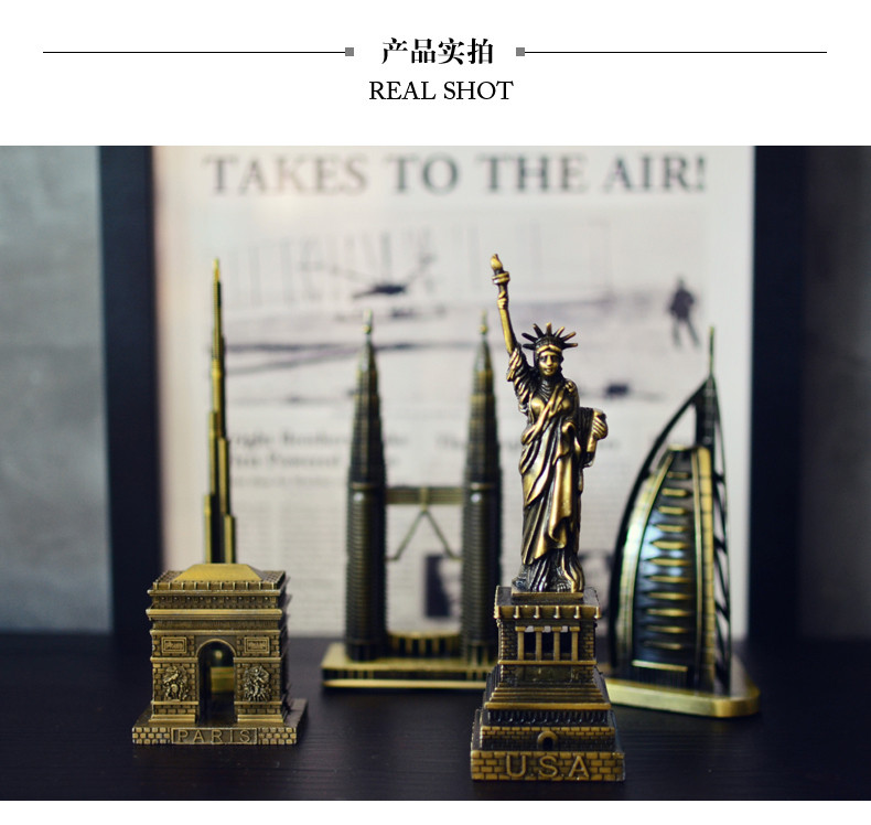 Vintage Home Decor World famous landmark Eiffel Tower in Paris building model metal crafts gifts ornaments Desktop decorations 10