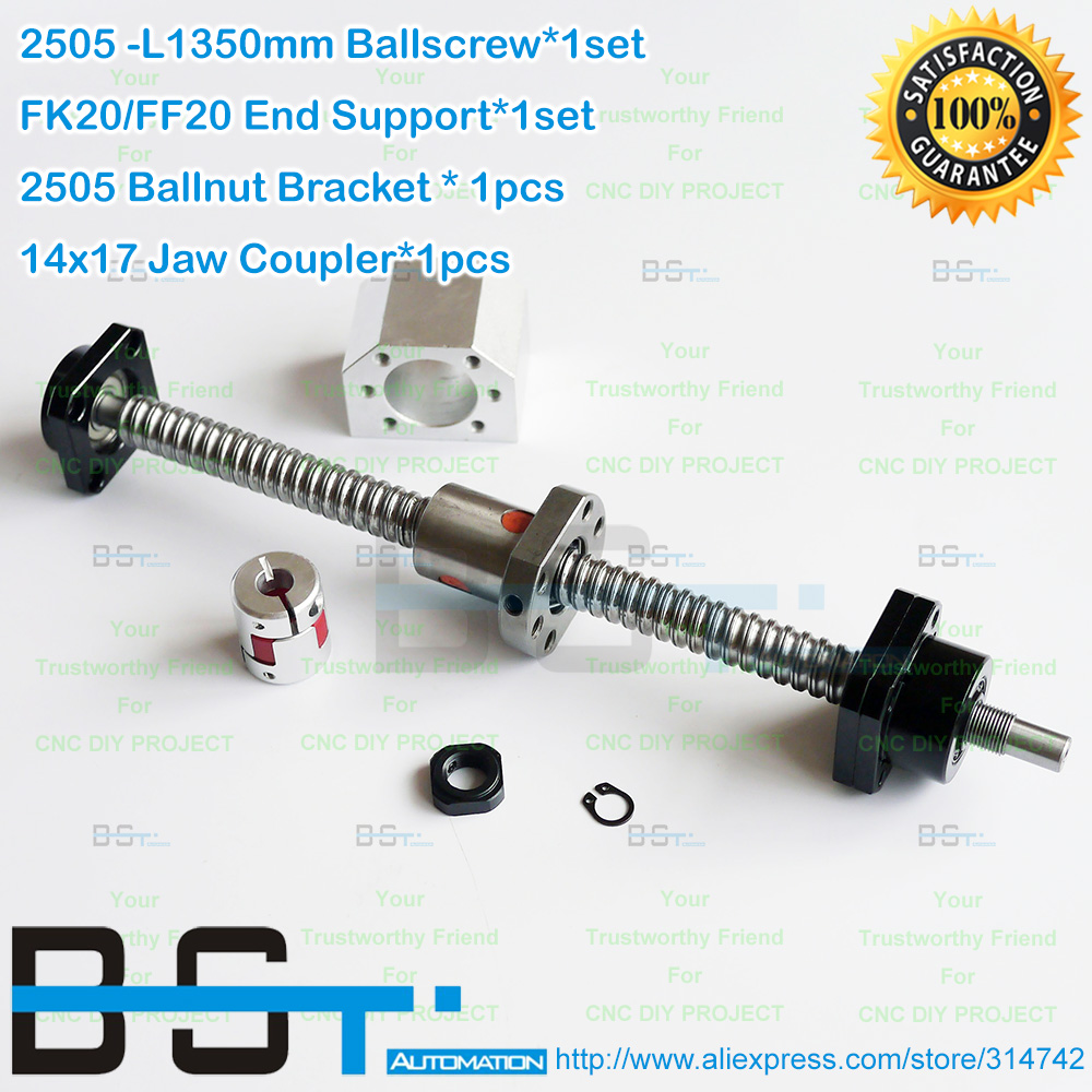 Rm2505 1350mm Ball Screw Rolled Ballscrew Sfu2505 Ball