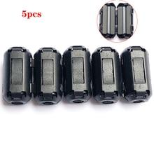 5 шт. 3,5 мм подавление шума ферритовые фильтры EMI RFI зажим дроссель магнитное кольцо ферритовый сердечник кабельный фильтр для шнура питания