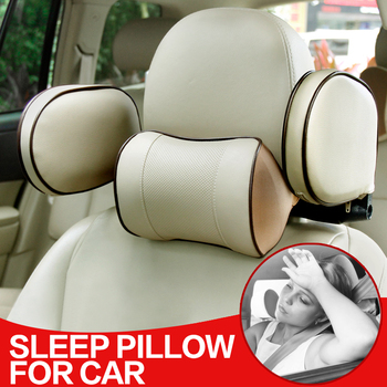 Universal Car Sleep headrest cushion Auto Neck pillow PU Retractable 3D memory foam cover in the car Sleeping Travel for Baby