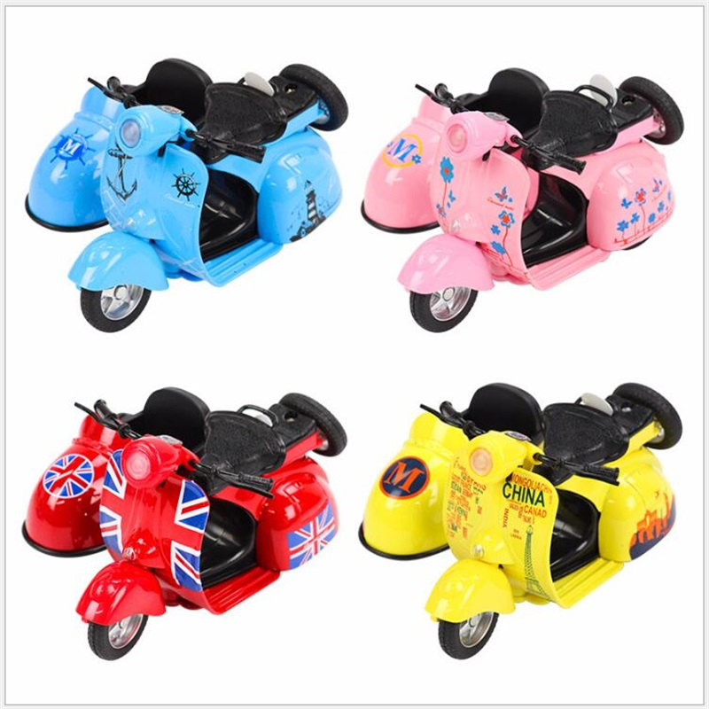 Inertial motorcycle simulation mini kids car toys alloy ...