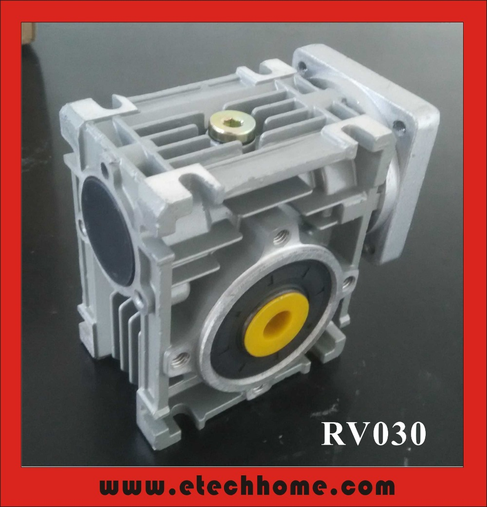 ФОТО 5:1 Worm Reducer RV030 11mm Input Shaft RV030 Worm Gearbox Speed Reducer for NEMA 23 Motor