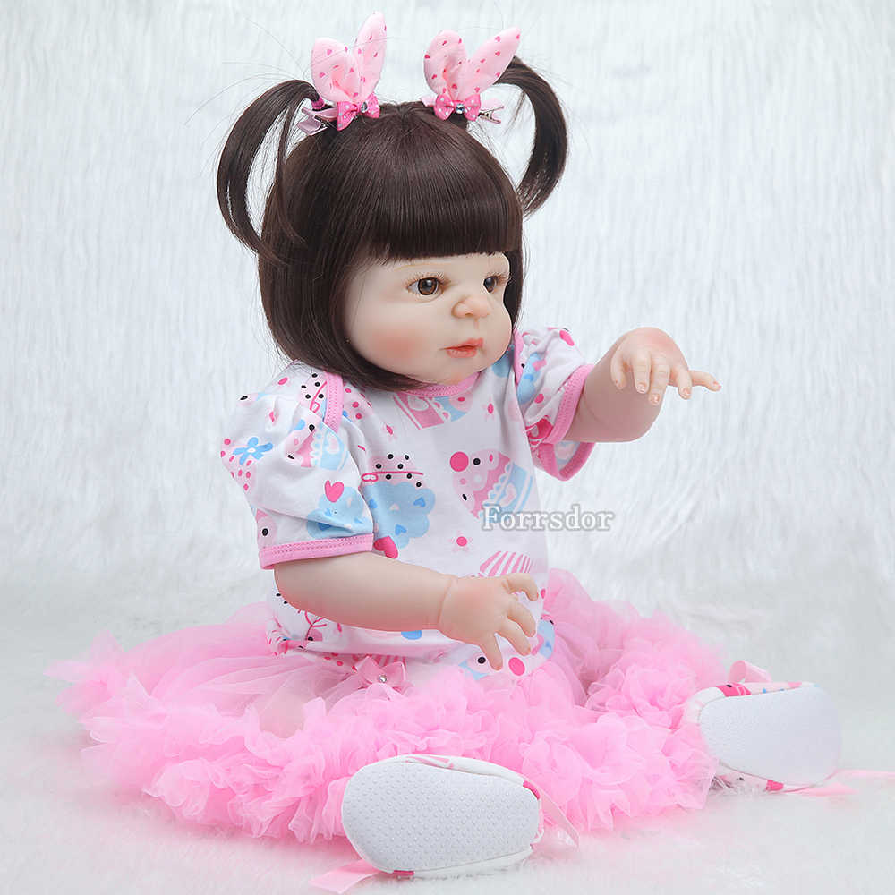 55 см силиконовая кукла реборн, реалистичные игрушки, детские куклы на день рождения, рождественский подарок для девочек, brinquedos