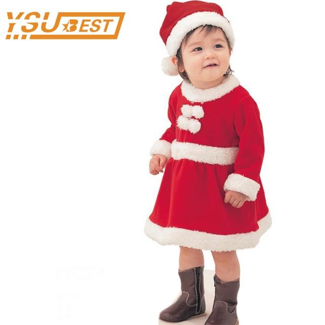 2017 Christmas Clothes Baby Girls Casual Polar Fleece Dress+Cap Set Girls Boys Santa Costume  sc 1 st  AliExpress.com & 2017 Christmas Clothes Baby Girls Casual Polar Fleece Dress+Cap Set ...
