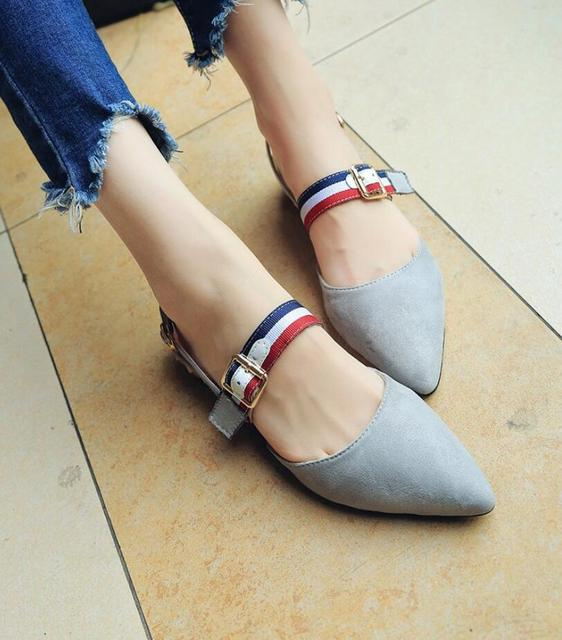 Dropshipping 2019 Spring Pointed Toe Flat Shoes Woman with Low Loafers Fashion Casual Shoes Women Flats Women Shoes