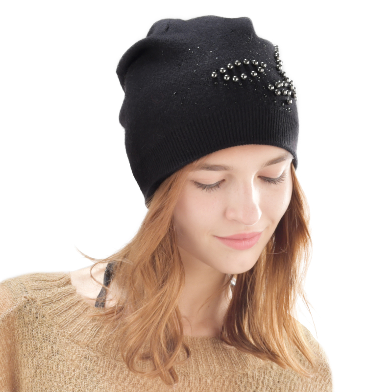 FURTALK women winter hat furtalk knitted mink fur hat for women