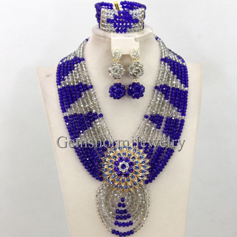 Silver Clear Indian Costume Jewellery Necklace Earrings: Aliexpress.com : Buy Blue/Silver Crystal Indian Bridal