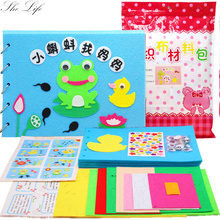 5 Styles DIY Story Book Felt Package Baby Early Cognitive Development Toy Handmade Special Gift For Kids