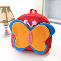 Милый мультфильм маленький холщовый мешок младенца мешок Двойной мешок плеча бабочка подсолнечник рюкзак кукла форма мешка