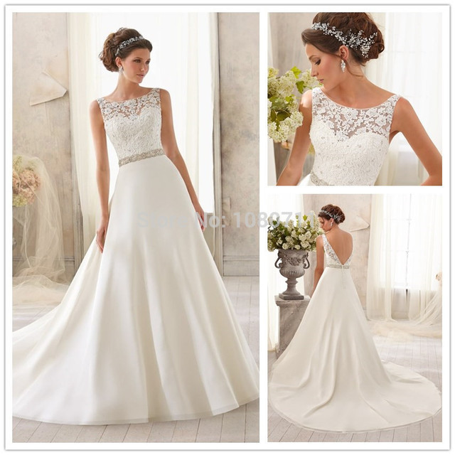 Vestidos de novia escote espalda 2019