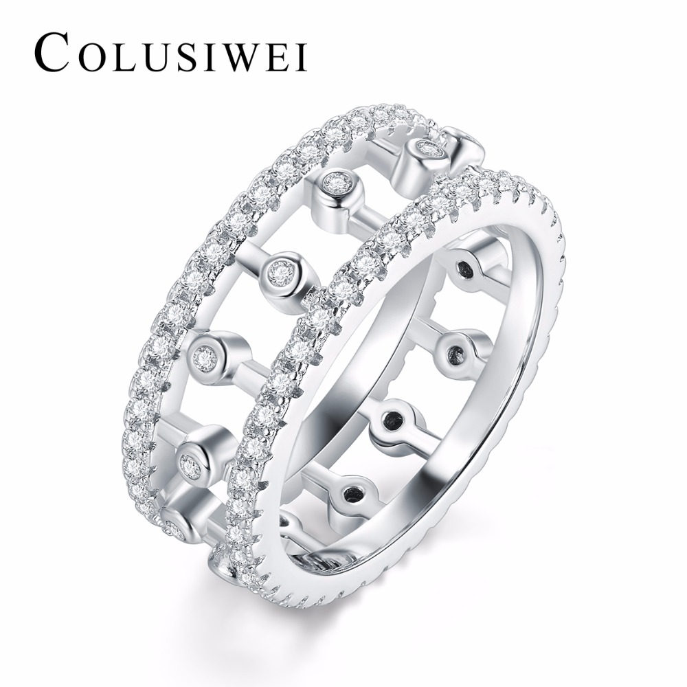 Luxury Silver Color Rings for Women Wedding Engagement Acessories Cubic Zirconia Fashion Jewelry For women Gift Big Promotion