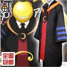 Assassination Classroom Anime cosplay Korosensei Hooded coat cos halloween party harujuku full set 3in1(Hoodie+shirt+tie)