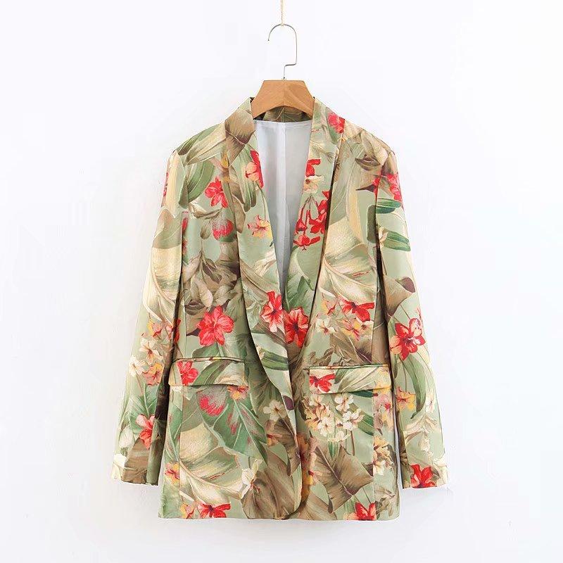 XZ50 1978 европейский и американский модный safflower костюм куртка женская модная куртка Цветочная куртка