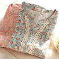 Casual Maternity Clothes Pregnancy Autumn Home Suit For Pregnant Women Floral Soft Cotton Maternity Nightgown Nursing 60M0072