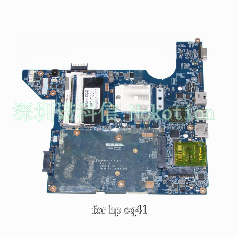 NBW20 LA-4117P 588017-001 for HP CQ41 Laptop motherboard DDR2 Mainboard