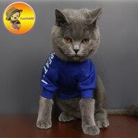 Два цвета персонализировать Дизайн ручной работы домашних животных Футболка Щенок футболка S Одежда с принтом в виде собак Pet пальто Vestidos со...