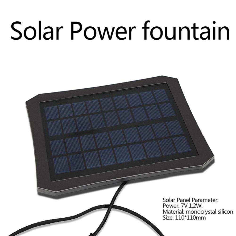 RC-608 Colorful LED Solar Power Water Fountain Fountain Pump Fountain Maker For Fish Pond Garden Pool
