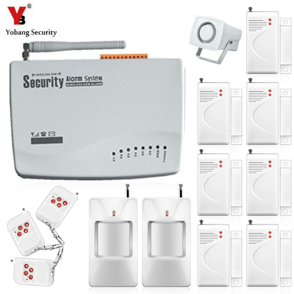 Yobang Security Tri-band Antenna wireless alarm for home protection GSM alarma home Burglar Security alarma Detector wireless smoke fire detector for wireless for touch keypad panel wifi gsm home security burglar voice alarm system