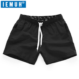 2020 Summer Shorts Men Women Quick Drying fitnesShort homme Casual Beach Shorts Mens Boardshorts Elastic Waist Solid 18 Color(China)