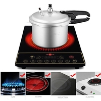2.2L/3.2L Multifunctional Aluminium Alloy Pressure Cooker Rice Cooker Soup Pot Stewpot For Gas Stove Induction Cooker