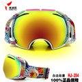 Snowmobile da motocicleta óculos de esqui eyewear luneta moto com caso neve googles dupla lente anti fog windproof uv400 sci
