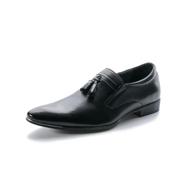 DYANMIC  Men Dress Shoes  Tassel  Party  Wedding  Loafer  Latest Designer Man Oxford Shoes Male Handmade Classic Vintage Shoes
