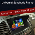 GPS do carro gps sombrinha 7 polegada a 10 polegadas Intercambiáveis adesiva Dupla-face Escudo Luz de Navegação Do Carro DVD GPS Capa Tela de LCD